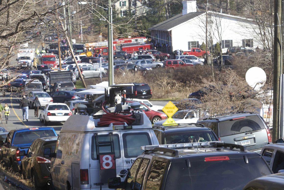 O caos em redor da escola